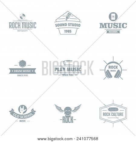 Music Skill Logo Set. Simple Set Of 9 Music Skill Vector Logo For Web Isolated On White Background