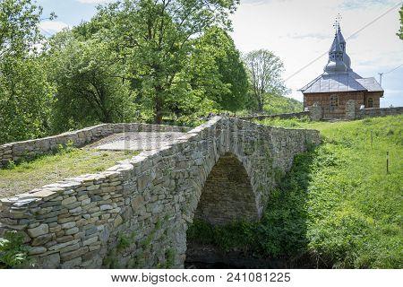 Wooden Christian Church In Olchowiec In Beskid Niski In Poland