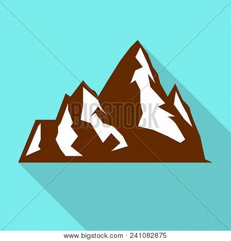 Hight Mountain Icon. Flat Illustration Of Hight Mountain Vector Icon For Web Design
