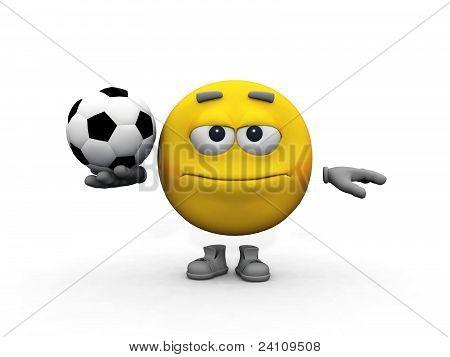 smiley and football