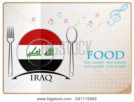 Food Logo Made From The Flag Of Iraq