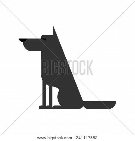 Wolf Isolated. Forest Predator Beast. Vector Illustration