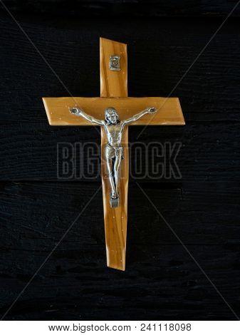 Wooden Catholic crucifix