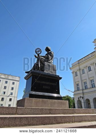 View At Nicolaus Copernicus Monument In Warsaw, Poland