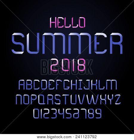 Vector Modern Font And Alphabet. Lettering For Summer.