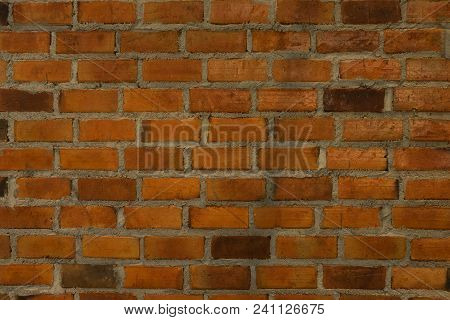 Red Brick Wall Texture Background,  Use To Interior Design And Outddoor