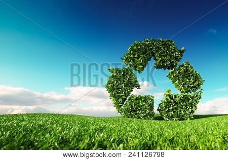 Eco Friendly, Bio, No Waste, Zero Pollution, Pesticide Free Agriculture Or/and Biofuel Concept. 3d R