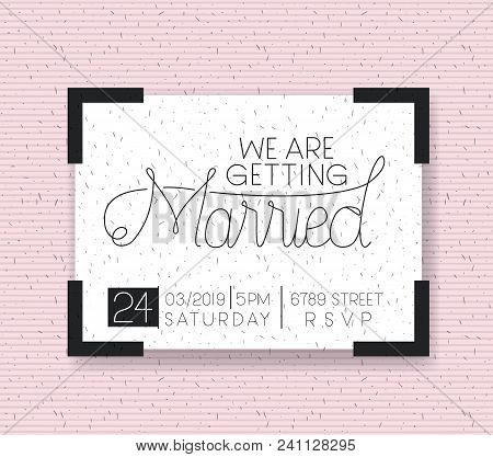 Wedding And Married Invitation Card Vector Illustration Design