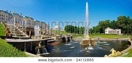 The Grand Cascade Fountain At Peterhof