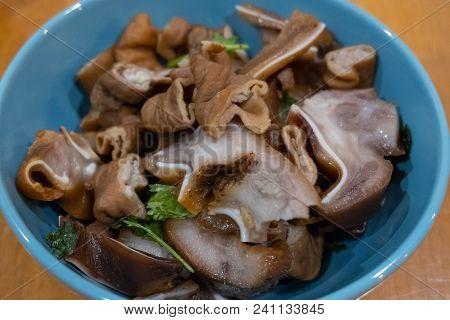 Grilled Chitterlings Or Roast Chitterlings (thai Food)