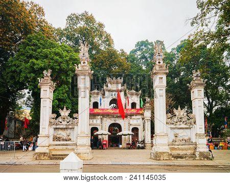 Hanoi, Vietnam - February 22, 2016: Quan Thanh Temple, Hanoi, Vietnam