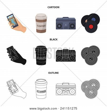 Hipster, Fashion, Style, Subculture .hipster Style Set Collection Icons In Cartoon, Black, Outline S