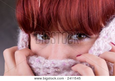 Winter Portrait Of A Beautiful Woman