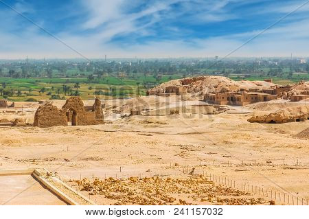 Archaeological Excavations In The Desert. Cairo. Giza. Egypt. Travel Background.