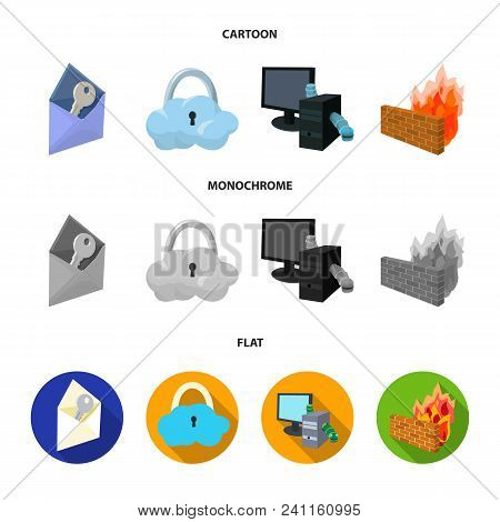 System, Internet, Connection, Code .hackers And Hacking Set Collection Icons In Cartoon, Flat, Monoc