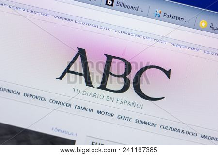 Ryazan, Russia - May 13, 2018: Abc Website On The Display Of Pc, Url - Abc.es
