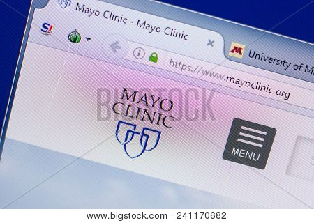 Ryazan, Russia - May 13, 2018: Mayo Clinic Website On The Display Of Pc, Url - Mayoclinic.org