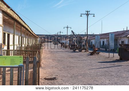 Humberton, Chile--april 9, 2018. Photo Of A Street In Humberton, Chile, And Abandoned Mining Town, N