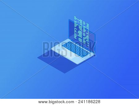 File Transfer From Flash Drive To Laptop. Cloud Storage Data And Synchronization Of Devices.