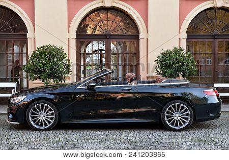 Dobris, Czech Republic - November 1, 2016: Mercedes-benz S500 Cabrio In Dobris, Czech Republic, Nove