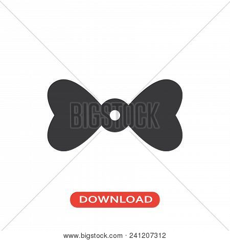 Bow Tie Icon Vector In Modern Flat Style For Web, Graphic And Mobile Design. Bow Tie Icon Vector Iso