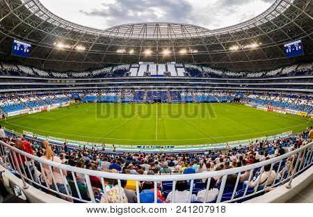 Samara, Russia - May 16, 2018: Samara Arena Football Stadium. Samara - The City Hosting The Fifa Wor