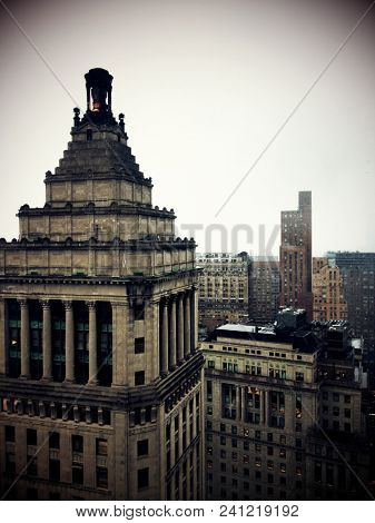 NEW YORK, NY USA - MAR 7 2014:  View of the Standard Oil building in NYCs Bowling Green financial district. This was the headquarters of the infamous Standard Oil Company of John D. Rockefeller