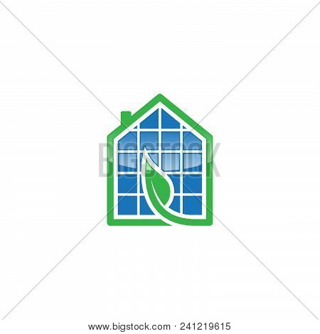 Flat House Save Energy Power And Natural Electricity Solar Battery. Recycling Energy Technology For
