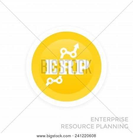 Erp System Vector Icon, Eps 10 File, Easy To Edit