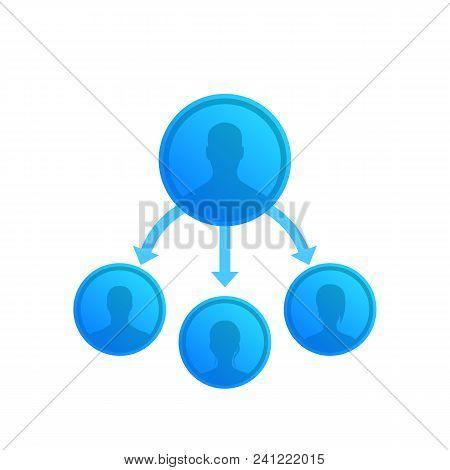 Delegation, Management Vector Illustration, Eps 10 File, Easy To Edit