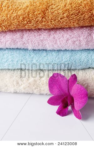 Set Of Colored Towels