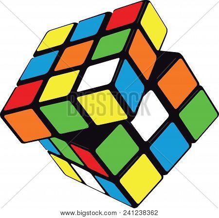 rubiks cub magic cube solving enigma play illustration poster
