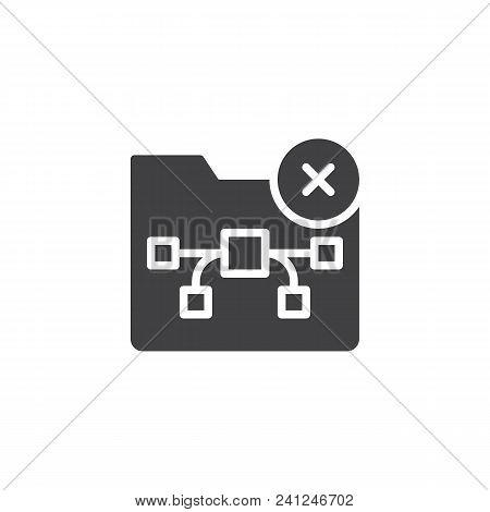 Graphic Folder Delete Vector Icon. Filled Flat Sign For Mobile Concept And Web Design. Remove Folder