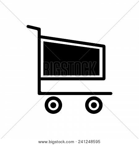 Shopping Cart Vector Icon On White Background. Shopping Cart Modern Icon For Graphic And Web Design.
