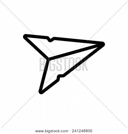 Send Message Vector Icon On White Background. Send Message Modern Icon For Graphic And Web Design. S