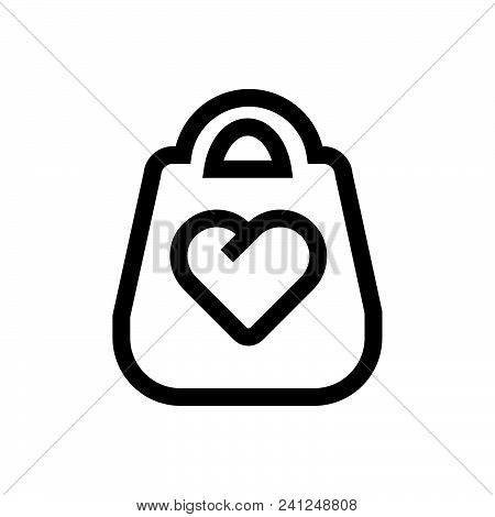 Leather Bag Vector Icon On White Background. Leather Bag Modern Icon For Graphic And Web Design. Lea