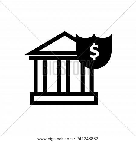 Bank Vector Icon On White Background. Bank Modern Icon For Graphic And Web Design. Bank Icon Sign Fo
