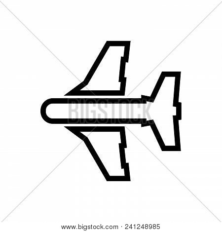 Airplane, Aircraft Top View Symbol. Airplane Icon. Airplane Icon Vector Eps. Airplane Icon Image Jpg