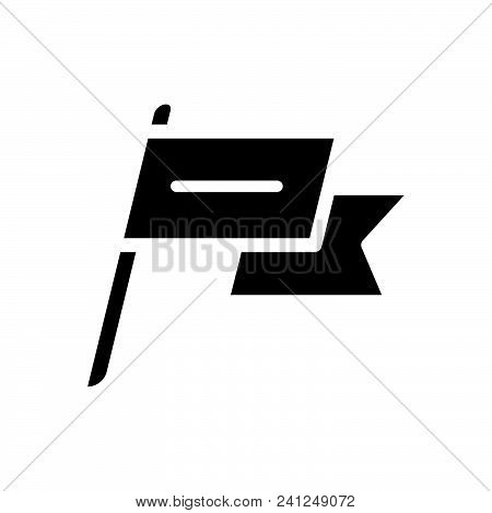 Flag With Shadow, Flag With Shade Outlined Symbol. Flag Icon. Flag Icon Vector Eps. Flag Icon Image