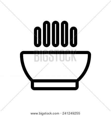 Hot Soup Vector Icon On White Background. Hot Soup Modern Icon For Graphic And Web Design. Hot Soup