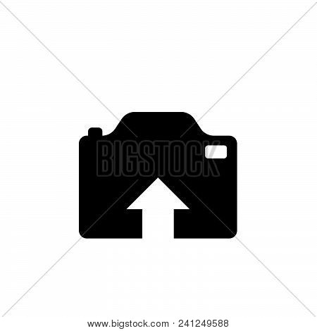 Upload Photo Vector Icon On White Background. Upload Photo Modern Icon For Graphic And Web Design. U