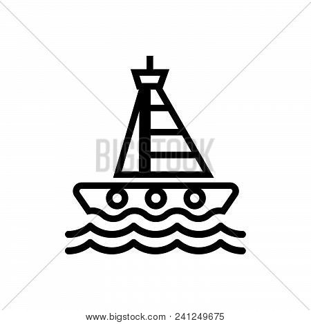 Sailing Yacht Vector Icon On White Background. Sailing Yacht Modern Icon For Graphic And Web Design.