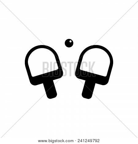 Ping Pong Vector Icon On White Background. Ping Pong Modern Icon For Graphic And Web Design. Ping Po