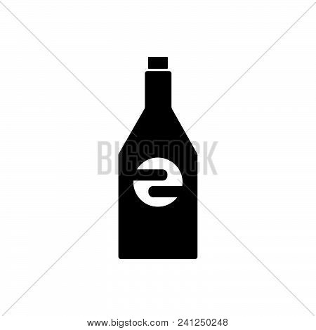 Bottle Vector Icon On White Background. Bottle Modern Icon For Graphic And Web Design. Bottle Icon S