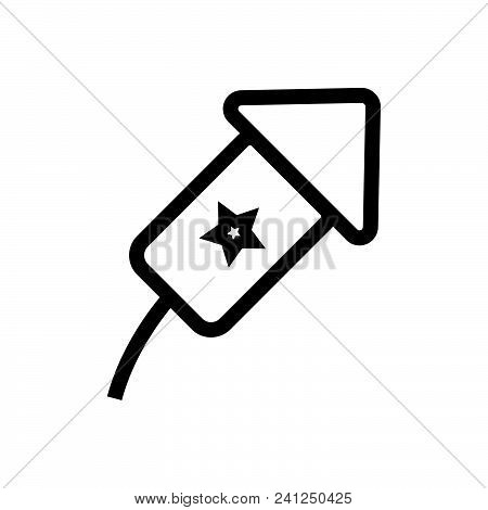 Firework Vector Icon On White Background. Firework Modern Icon For Graphic And Web Design. Firework