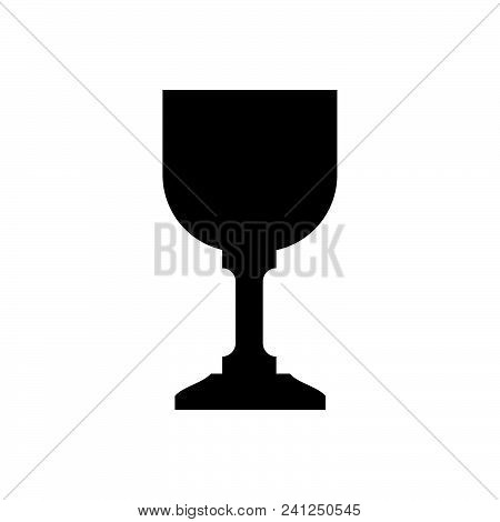 Wine Glass Vector Icon On White Background. Wine Glass Modern Icon For Graphic And Web Design. Wine