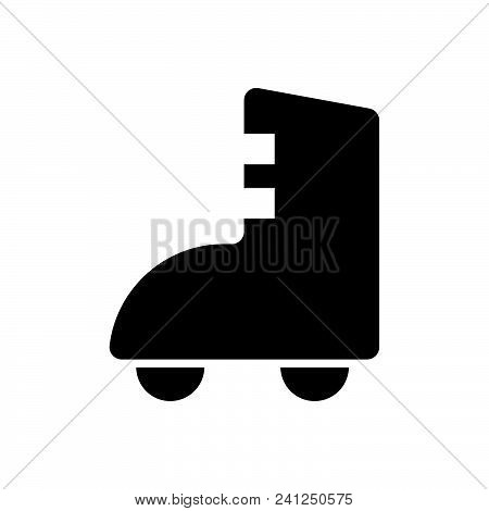 Roller Skates Icon Vector Icon On White Background. Roller Skates Icon Modern Icon For Graphic And W