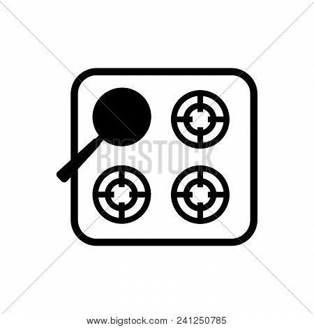 Gas Stove Vector Icon On White Background. Gas Stove Modern Icon For Graphic And Web Design. Gas Sto
