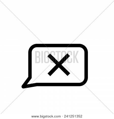 Closed Chat Vector Icon On White Background. Closed Chat Modern Icon For Graphic And Web Design. Clo