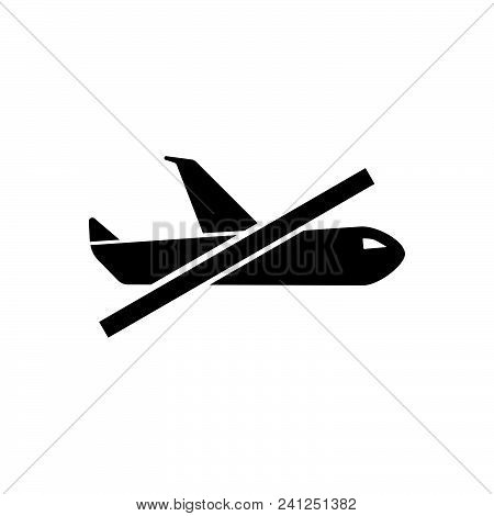 No Flight Vector Icon On White Background. No Flight Modern Icon For Graphic And Web Design. No Flig